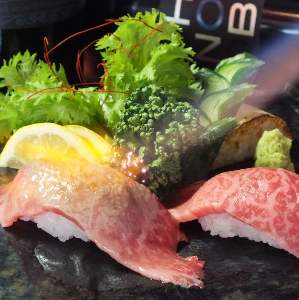 Special selection Kuroge Wagyu beef broiled sushi 2