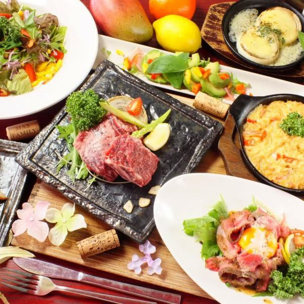 Boasting meat dishes & fresh fresh fish & healthy vegetables for women ♪ 2 hour drink all you can ◆ Color course ◆