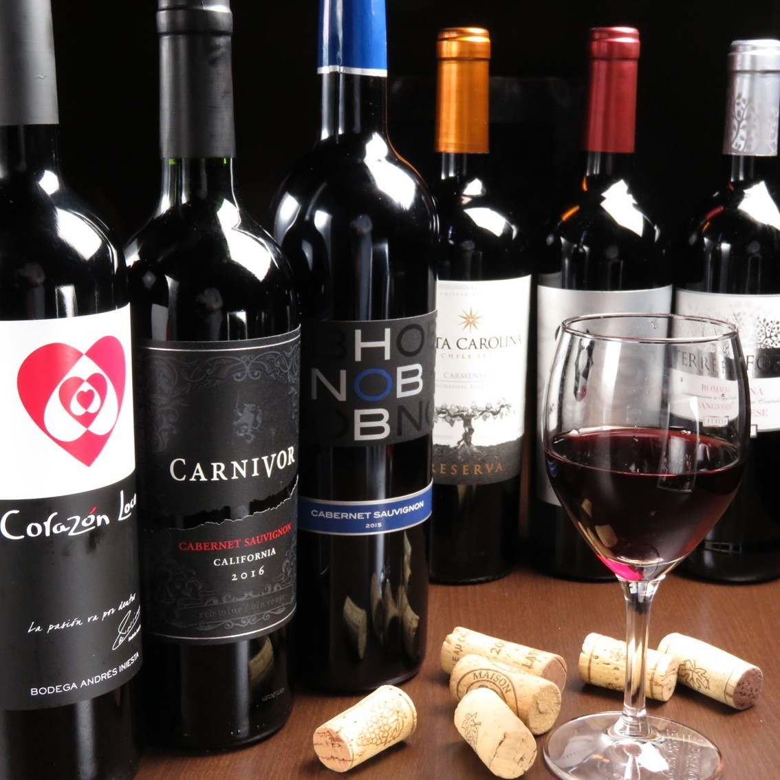 Select carefully selected wines to suit your dishes! Prepare all 10 varieties ♪