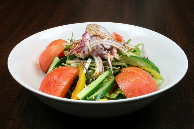 Boiled salad with homemade dressing