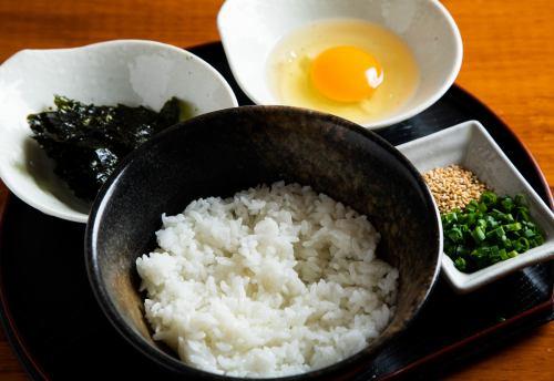 玉子かけご飯 with 韓国のり