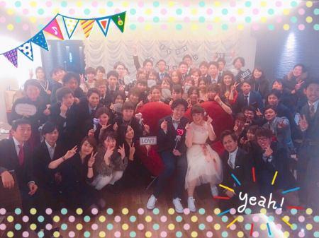 2017.12.03 超満員で大盛り上がり♪素敵な雰囲気の結婚式二次会★