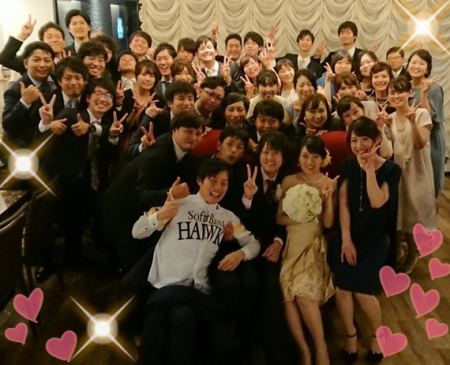 2018,10,27     幹事様の思いが詰まった素敵な二次会でした!!