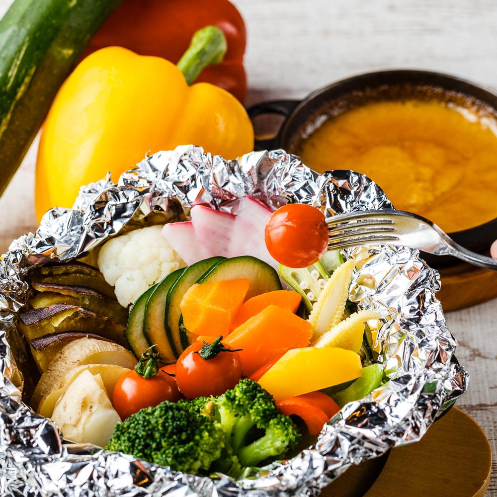 A generous vegetable boasts Banya Cowda sauce