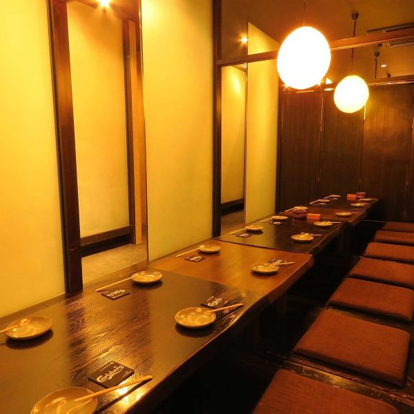 【Completely Private Room】 Up to 40 people OK! You can use it for drinking party, entertainment, meeting etc. scenes.It is a popular seat for lunch time gathering as well as dinner.(We have lunch only on weekdays of fire, water, tree, there are cases when there is no business depending on the time.) Please feel free to inquire if your seats are available according to the number of people and use.※ Online booking where points accumulate is convenient and recommended