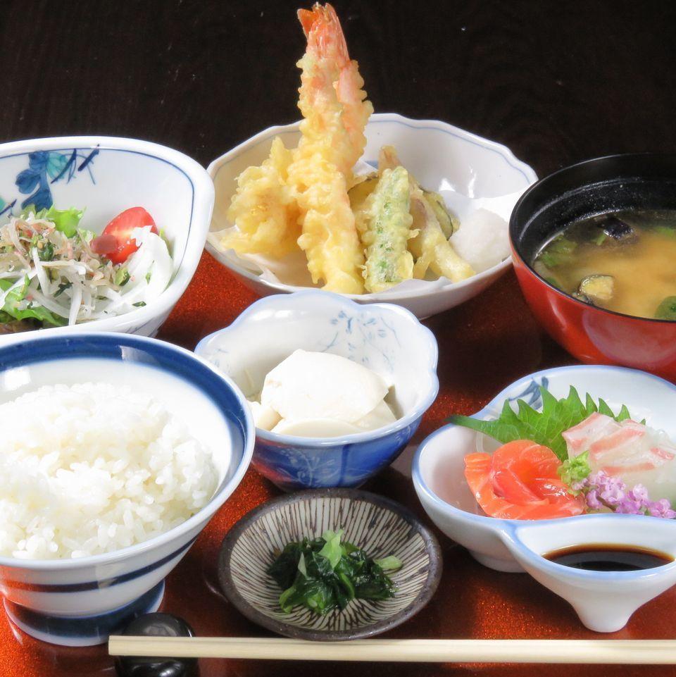 今天的生鱼片天妇罗套餐※火〜树有限(可预约/最多35人)