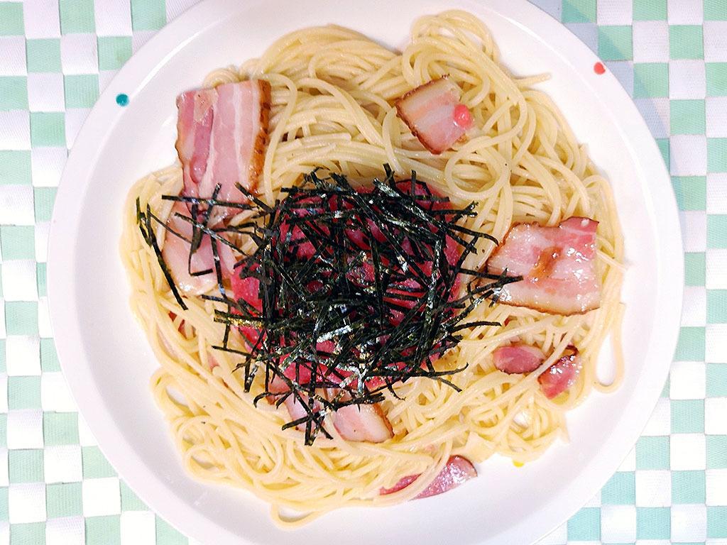 Taraco · bacon / shrimp chili sauce / Frankfurt · eggplant / mentaiko · shimeji