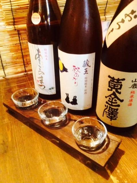 Various kinds of sake in Tohoku.