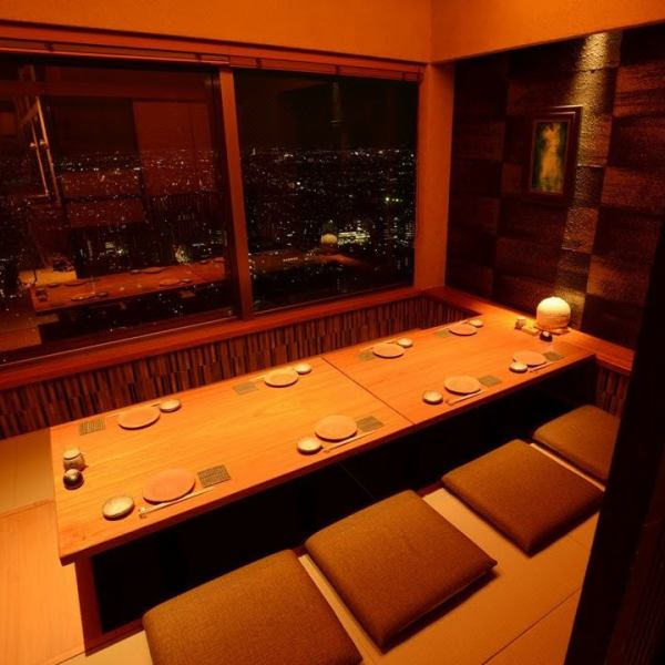 The private room on the window side is a special seat where you can see the night view of Ebisu.A space to heal your heart that makes us forget the bustle of the outside in an instant.Please spend a relaxing time with your precious person.Reservation as soon as possible ....