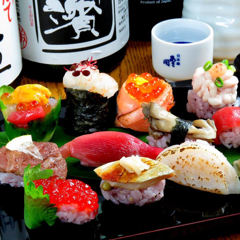 用寿司作为旋钮来品尝清酒的奢华时刻......