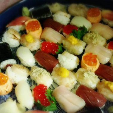 【Large popularity!】 Tsumami sushi proficient ♪ Favorite course ☆ 2H with all you can drink 4500 yen ⇒ 4000 yen