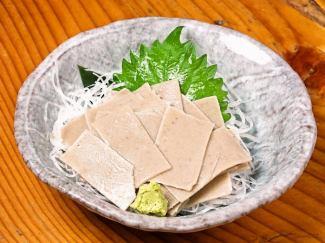 蕎麦の刺身