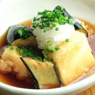 豆腐となすの揚げだし