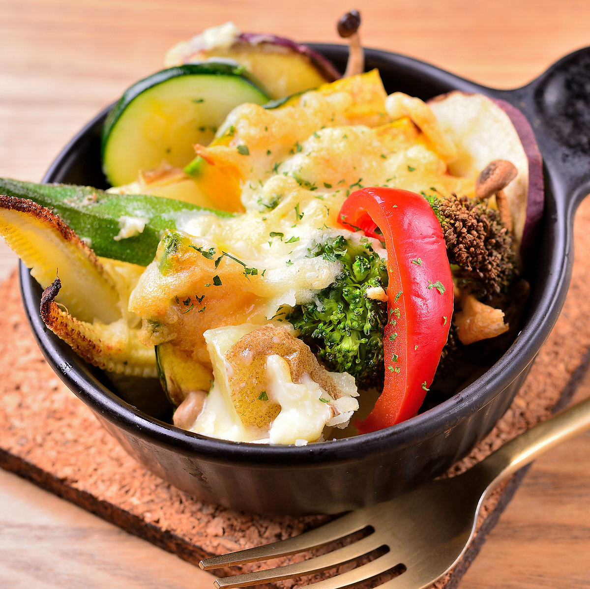 Grilled vegetables Camembert