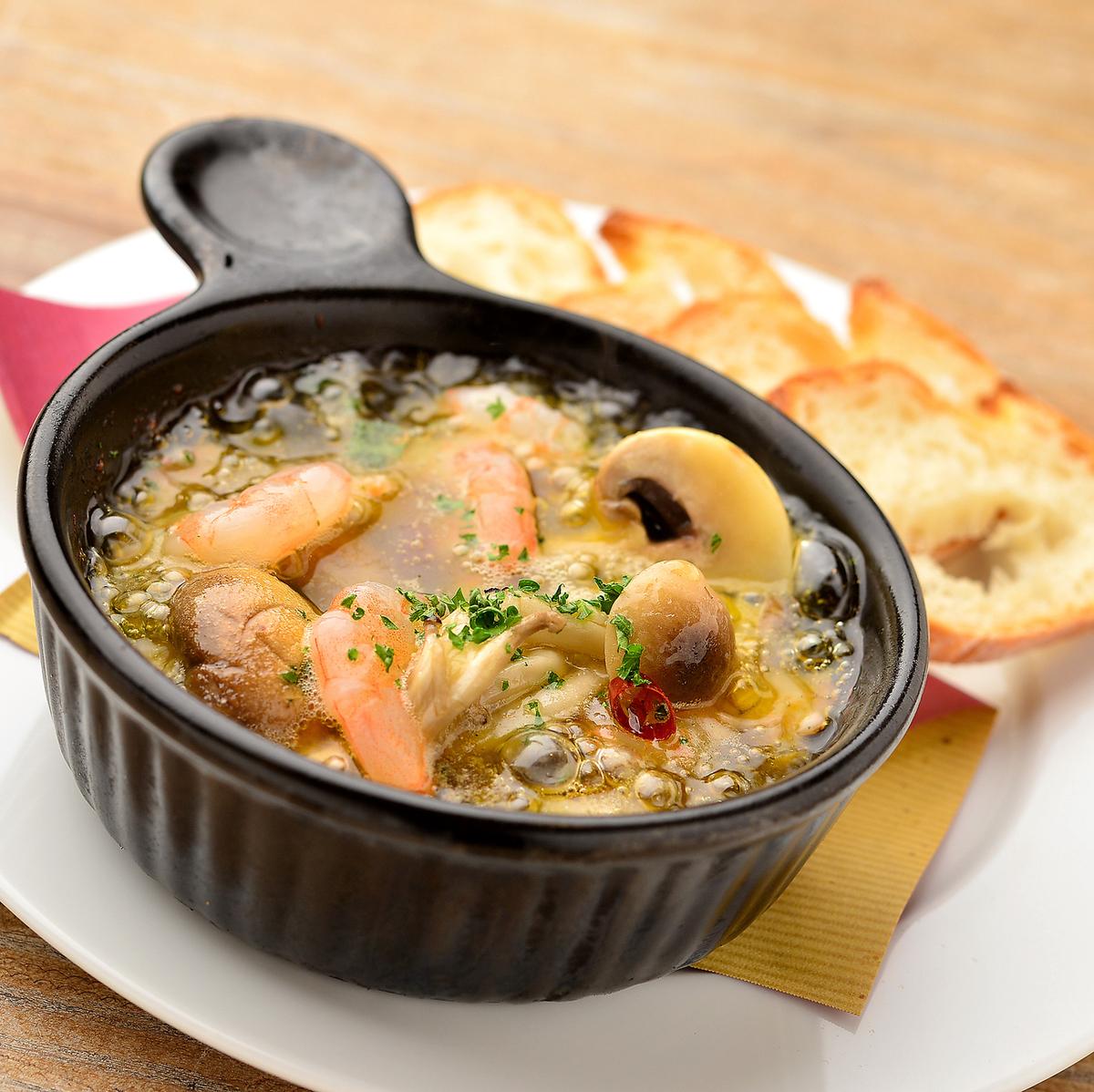 蝦和蘑菇ahijyo [帶桶]