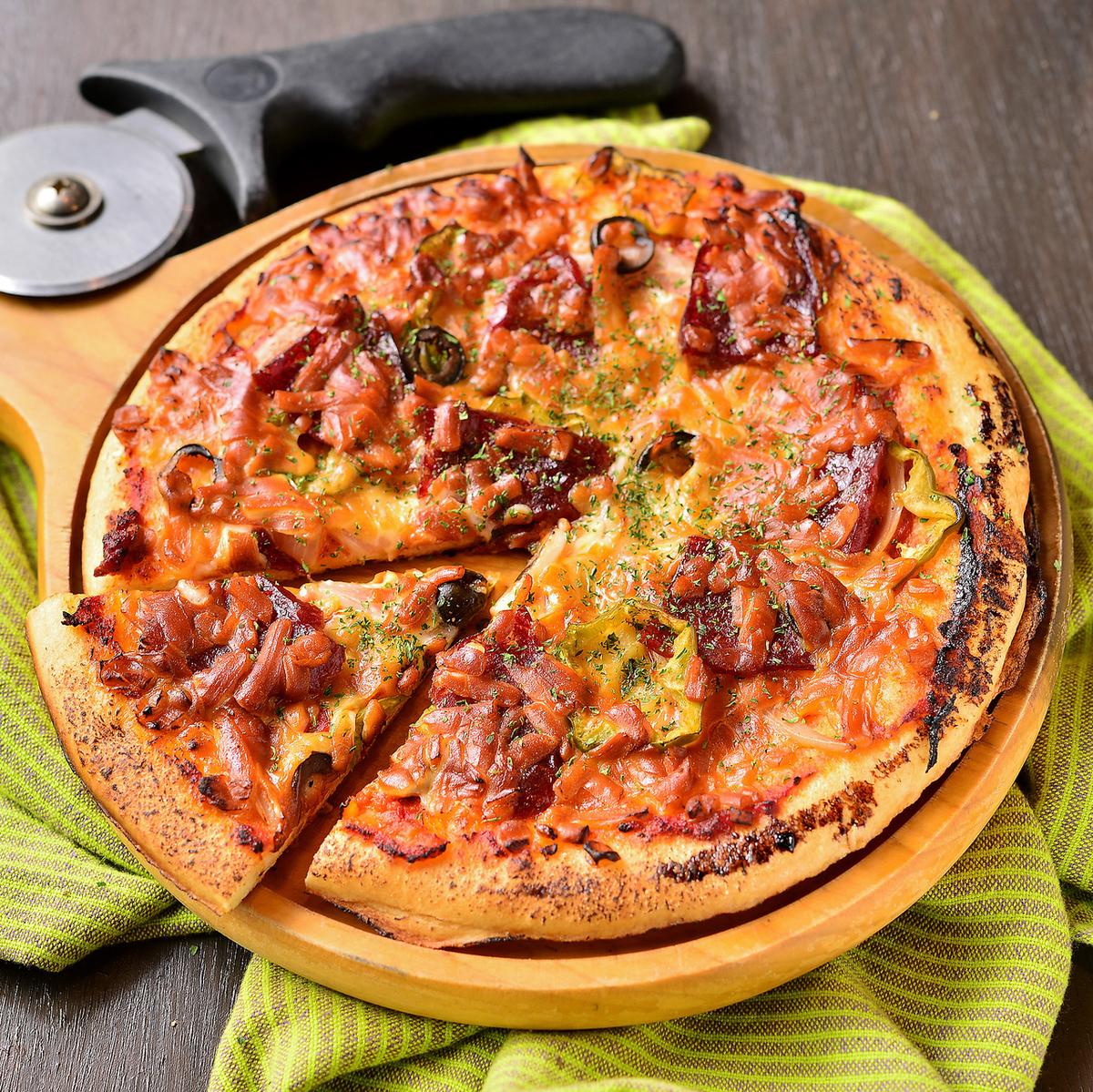 훈제 피자