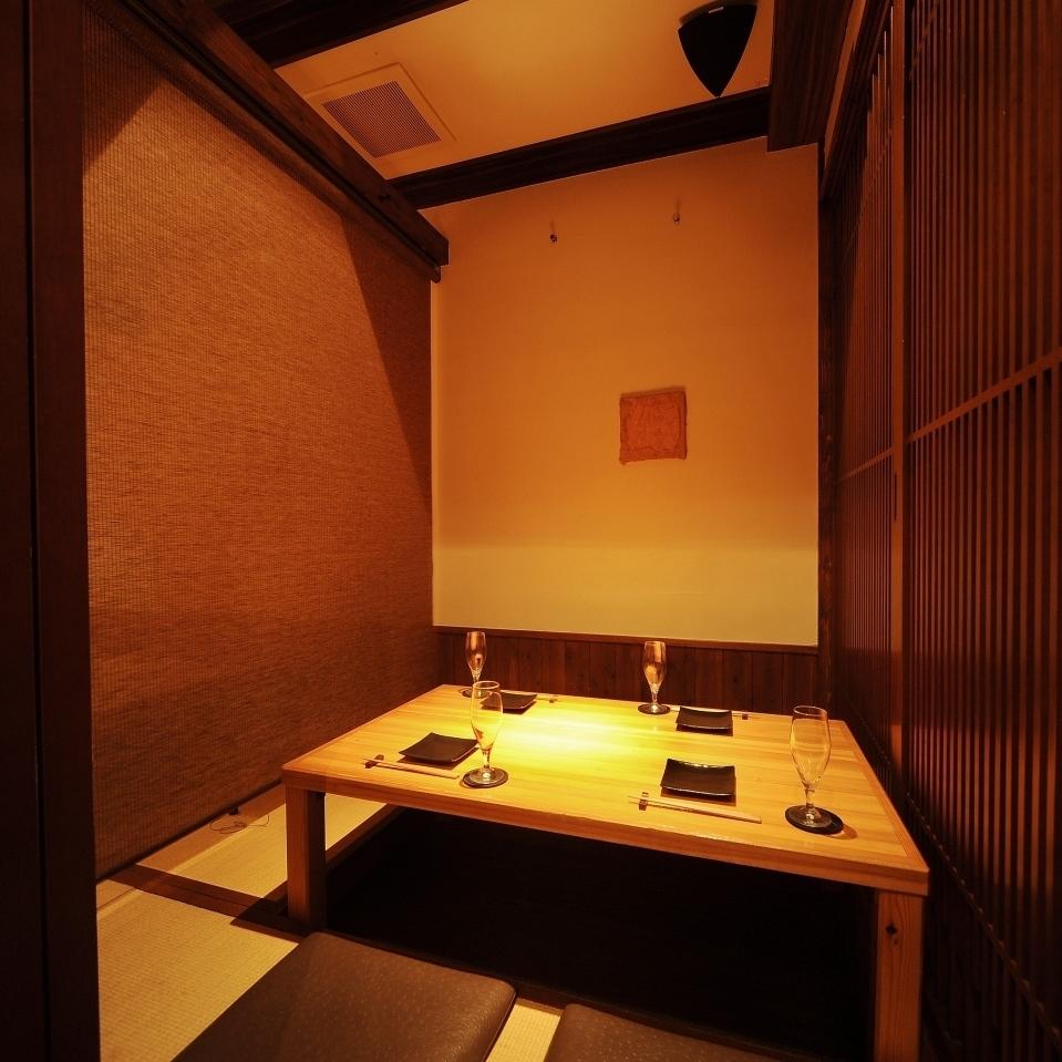 接待・デート利用に最適な半個室は2名様~ご利用いただけます。
