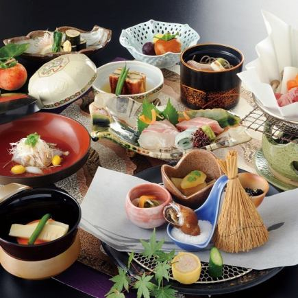 【1番人気コ-ス】11月料理長特選本格和会席 飲み放題付¥8000→¥7500コ-ス