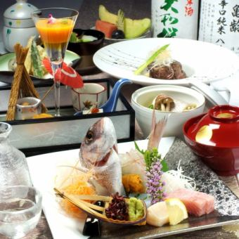 Premium full-fledged Japanese cuisine course 10000 yen course (tax and service charge included \ 11880)