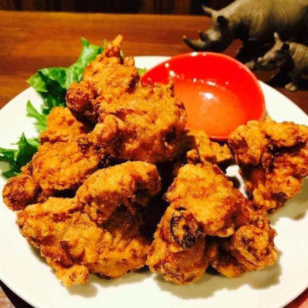 【Deep fried chicken】 I'm sorry that I am too particular about it!