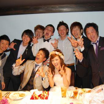 【結婚式2次会・貸切】毎月2組限定スペシャルプライス貸切コース3500円!