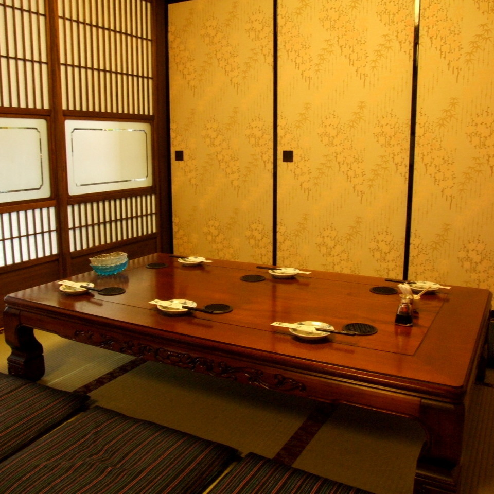 Private room for six people.Do not worry about surrounding eyes, please relax.