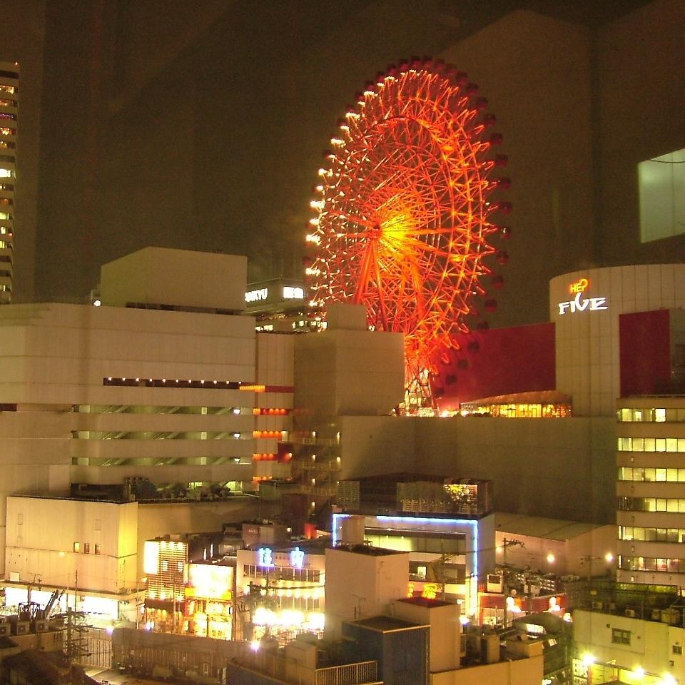 【Atmosphere information】 Overlooking Umeda from popular private room! HEP Ferris Wheel also looks pat! In addition, East Street · Douzan ♪