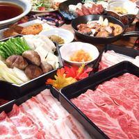 【Farewell party / 2 hours of all you can eat】 Ryukyu Island Wagyu and Kuro pig ahu Shabu Shabu + Okinawa cuisine (Overall items in store / Over 70 kinds) Course