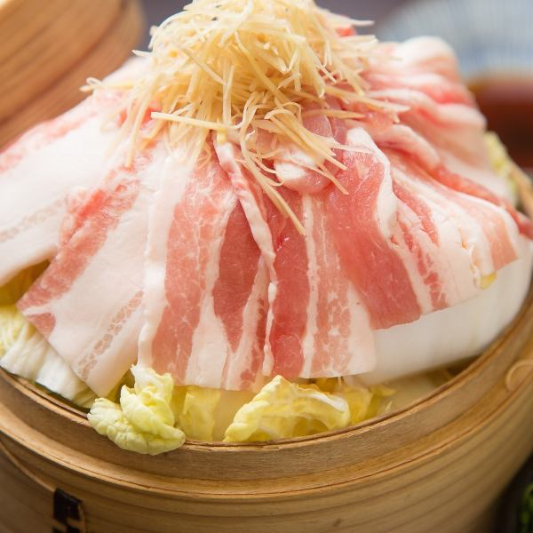 [Speaking of asakusa here] Shimanto pork organic ginger steamed