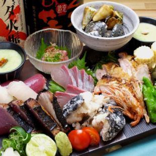 它包裝了大量的高知食材【阿賽花盆碗】4000日元2份〜