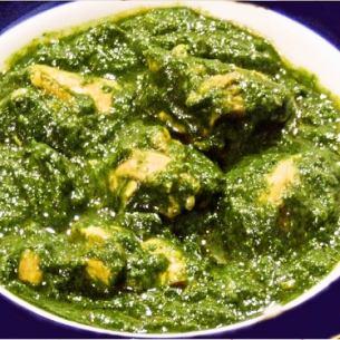 チキンとほうれん草のカレー Chicken & Spinach curry