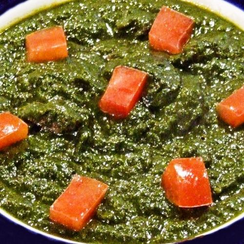 マトンとほうれん草のカレー Mutton & Spinach curry