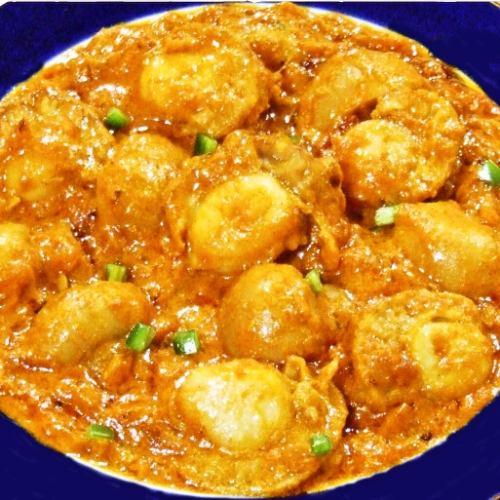 ほたてとマッシュルームのカレー Scallop & Mushroom curry