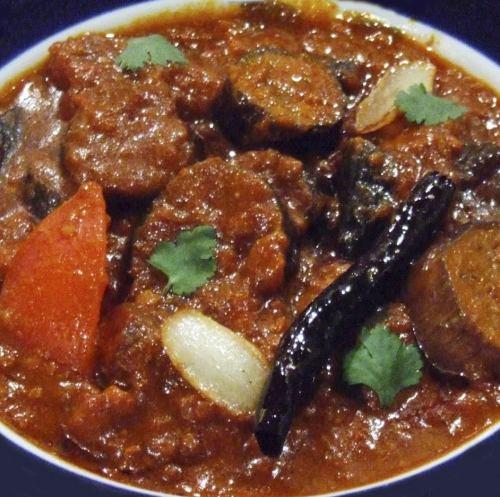 チキンとナスのカレー Chicken & Eggplant curry
