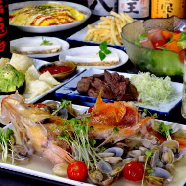 Course with Kashiwa fish market fresh fish and popular menu 2 hours with all you can drink 3000 yen ~